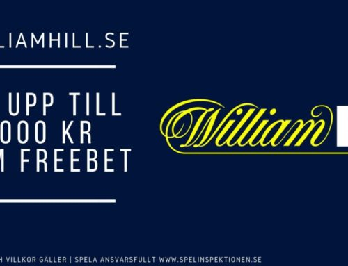 Välkomstbonus hos William Hill