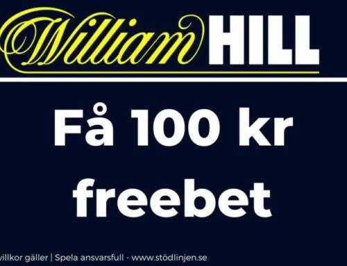 Välkomstbonus hos William Hill