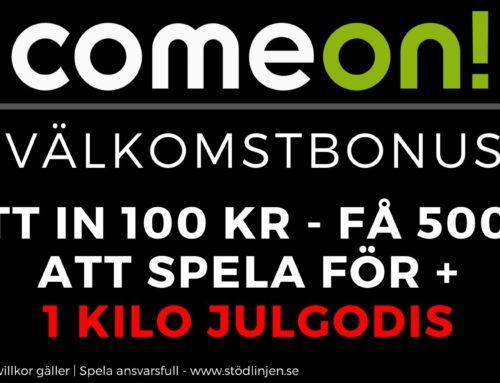 Välkomstbonus ComeOn – Få 1 kilo julgodis