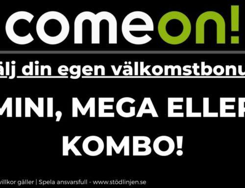 Välj din egen välkomstbonus hos ComeOn