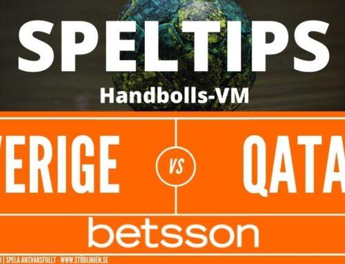 SPELTIPS VM | Kvartsfinal 27/1: Sverige – Qatar