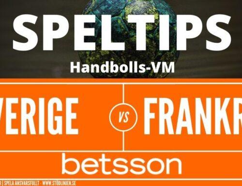 SPELTIPS VM | Semifinal 29/1: Sverige – Frankrike