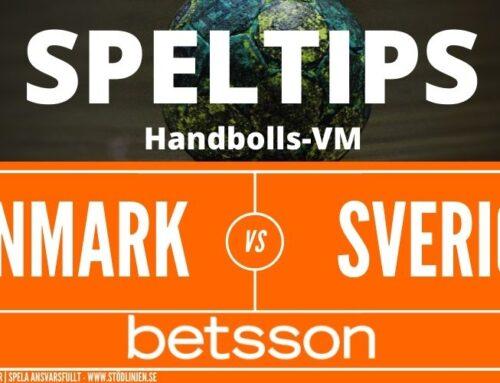 SPELTIPS VM | Final 31/1: Danmark – Sverige