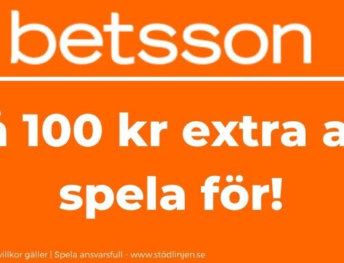 Välkomstbonus Betsson – 100 kr extra att spela för